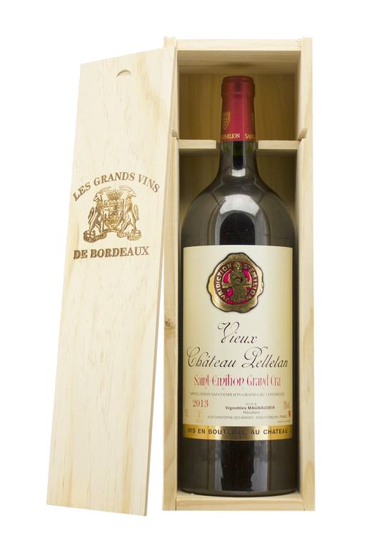 Saintmilion Grand Cru Vieux Chteau Pelletan Magnum in kist