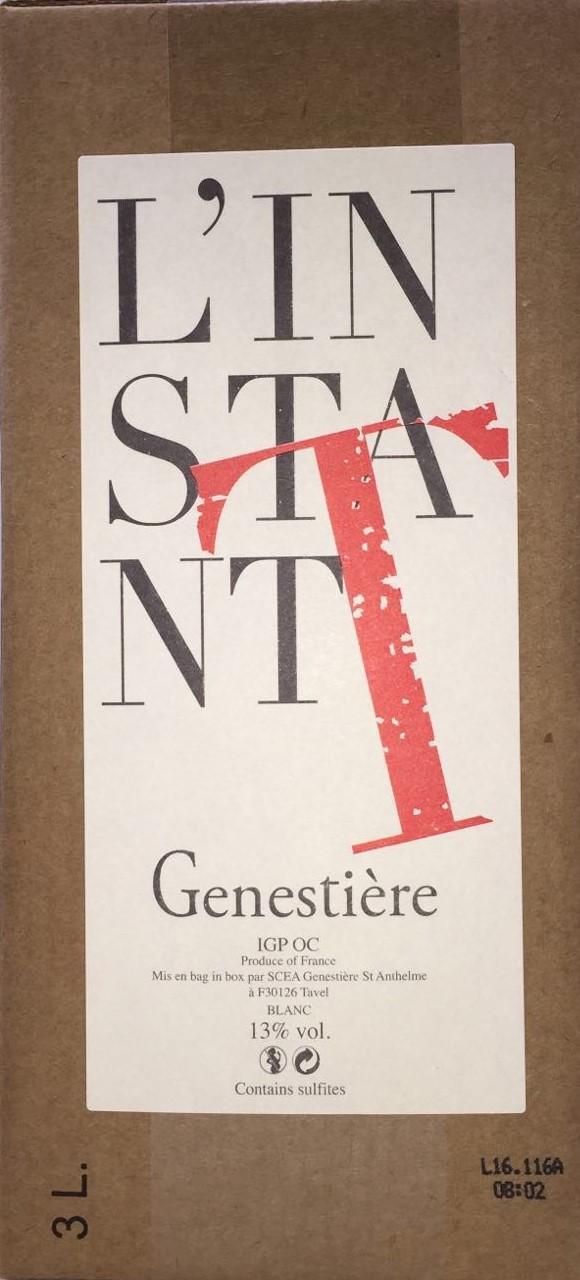 Bag in box  | L'Instant T Domaine de la Genestière IGP Vin de Pays du Gard Blanc